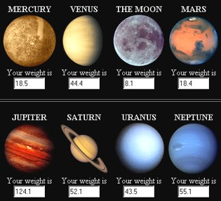 formula weight on other planets-#5
